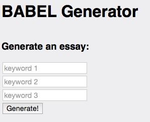 BABEL Generator